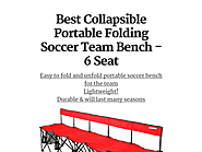 Best Collapsible Portable Folding Soccer Team Bench - 6 Seat