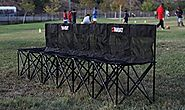 Collapsible portable folding soccer team bench - 6 seat on Flipboard