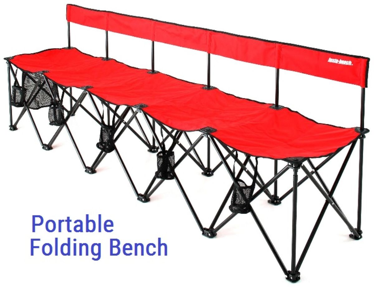 Cool Collapsible Portable Folding Soccer Team Bench 6 Seats Or Machost Co Dining Chair Design Ideas Machostcouk