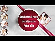 Herbal Remedies To Prevent Erectile Dysfunction Problem In Men
