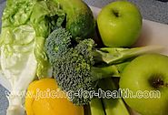 Green Apples, Broccoli, Celery, Cucumber and Lettuce