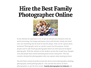 Hire the Best Family Photographer Online
