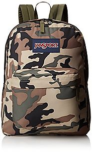 JanSport Superbreak Backpack - 1550cu in Desert Beige Conflict Camo, One Size