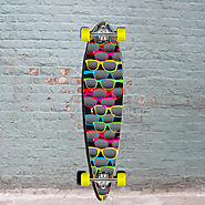 Black Pintail Shades Longboard 40 inch from Punked - Complete