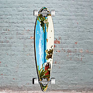 Getaway 40 inch Pintail Longboard from Punked - Complete