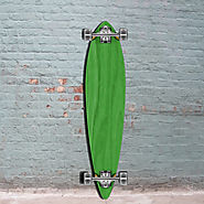 Green Pintail Longboard 40 inch from Punked - Complete