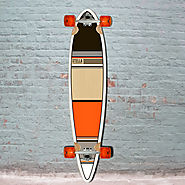 "Orange Classic 46"" Pintail Longboard Stella Longboards Complete"