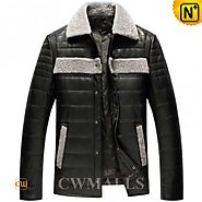 Frankfurt ShearlingLeather Down Jacket CW846052