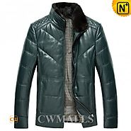 CWMALLS® Mens Fur Quilted Down Jackets CW846058