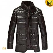 CWMALLS® Men Mink Fur Down Jackets CW860015