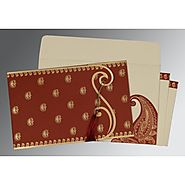 Indian Wedding Invitations Online: | Card Code : (W-8252A) |