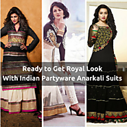 You Can Get The Royal Look With Indian Partyware Anarkali Suits