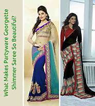 What Makes Partyware Georgette Shimmer Saree So Beautiful?