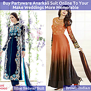 Buy Partyware Anarkali Suit Online To Your Make Weddings More Memorable