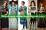 Buy Designer Salwar Kameez Dipped In Vibrant Colors From Indian Online Store