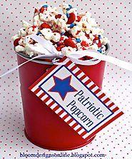 bloom designs: Make It Monday- Patriotic Popcorn
