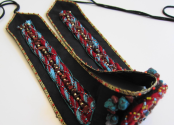Amatyzt | Exquisite Beaded Belt with Poppy Jasper by katuna Zarandia
