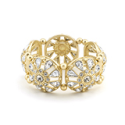 Amatyzt | Crystal Filigree Stretch Bangle Bracelet