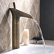 Bathroom Sink Faucet in Vintage Style Antique Brass Finish At FaucetsDeal.com