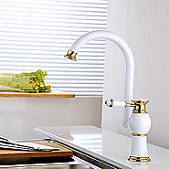 Contemporary Color painting Brass Hot and Cold Single Handle Kitchen Faucet At FaucetsDeal.com