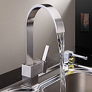 Nickel Brushed Finish Brass Kitchen Faucet At FaucetsDeal.com