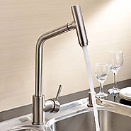 Centerset Deck Mounted Nickel Brushed Kitchen Faucet At FaucetsDeal.com