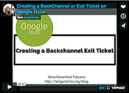 This is How to Use Google Docs to Create Backchannels and Exit Tickets ~ Educational Technology and Mobile Learning