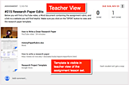 Google Classroom: Indicate Templates Attached