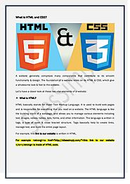 What is HTML and CSS?