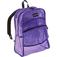 "JanSport® Mesh Backpack 13.8x6.5x18.6""H- Bags - Color Purple - Semi-transparent design and Super-lightweight - Makes ..."
