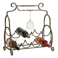 Aspire Home Accents Metal Counter Top Wine Rack | www.hayneedle.com