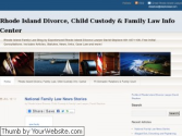Rhode Island Family Law and Divorce Information