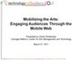 Mobilizing the Arts (Free webinar recording)
