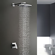 Chrome Wall Mount Rain Shower Faucet At FaucetsDeal.com