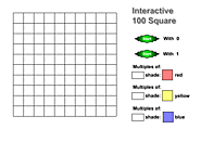 Interactive 100 square chart - mathematical investigation