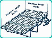 Get the size right by taking width, length and height measurements of your sofa bed mechanism