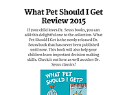 What Pet Should I Get Review 2015