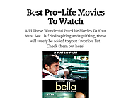 Best Pro-Life Movies To Watch
