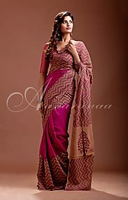Cutwork Silk Sarees at Aavaranaa