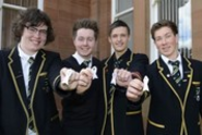 Auchinleck pupils back white ribbon anti-violence campaign