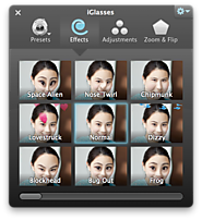 iGlasses for Mac - Effects and Adjustments for your Webcam, iSight, FaceTime Camera - Ecamm Network