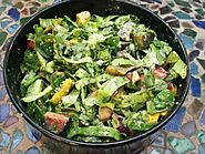 Breakfast Salad with Green Tahini-Lime Dressing