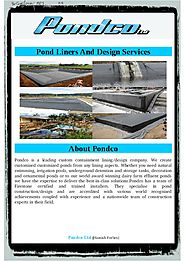 Find Details On Selections in Flexible Pond Liners