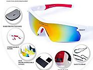 New RIVBOS 805 POLARIZED Sports Sunglasses with 5 Set Interchangable Lenses