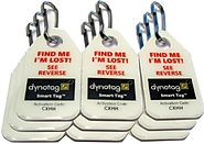 Dynotag® Web/GPS Enabled QR Code Smart Micro Zipper Tags: 9 (3x3strip)+SnapHooks