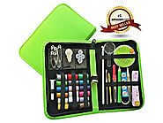 WooCrafts TM Best Sewing Kit for Travel,Home & Emergency - Compact Sewing Kit and Premium Sewing Supplies for Kids, G...