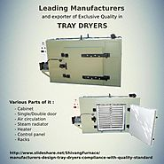 For technical specification contact tray dryers manufacturers