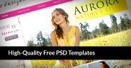 30 High-Quality Free PSD Templates - Best Free PSD Templates