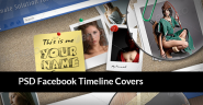 25 Amazing PSD Facebook Timeline Covers Free and Premium Edition 2013