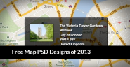 20 Beautiful Free Map PSD Designs of 2013 - Best PSD Templates